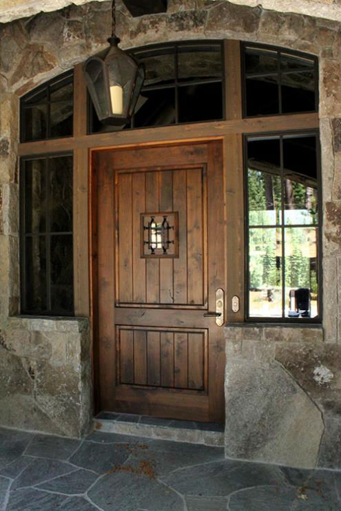 rustic high sierra custom door 14