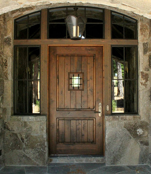 Truckee High Sierra Custom Door - Rustic 3