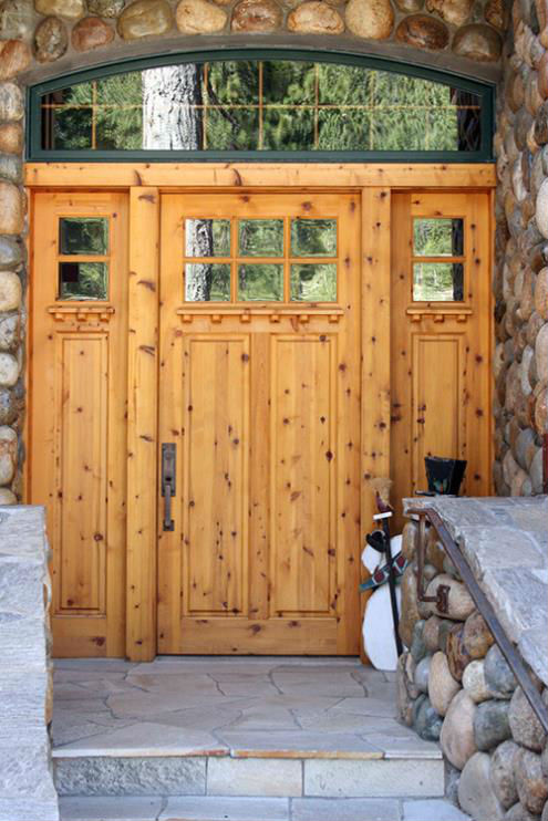 rustic high sierra custom door 6