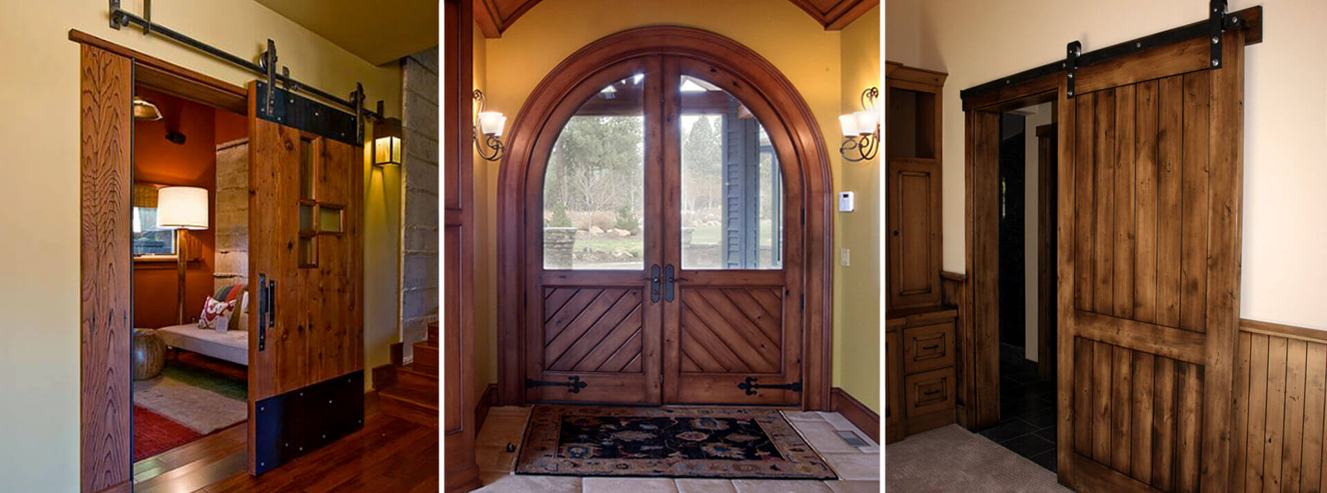 custom wood door finish
