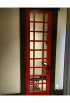 Red Modern Contemporary Interior door