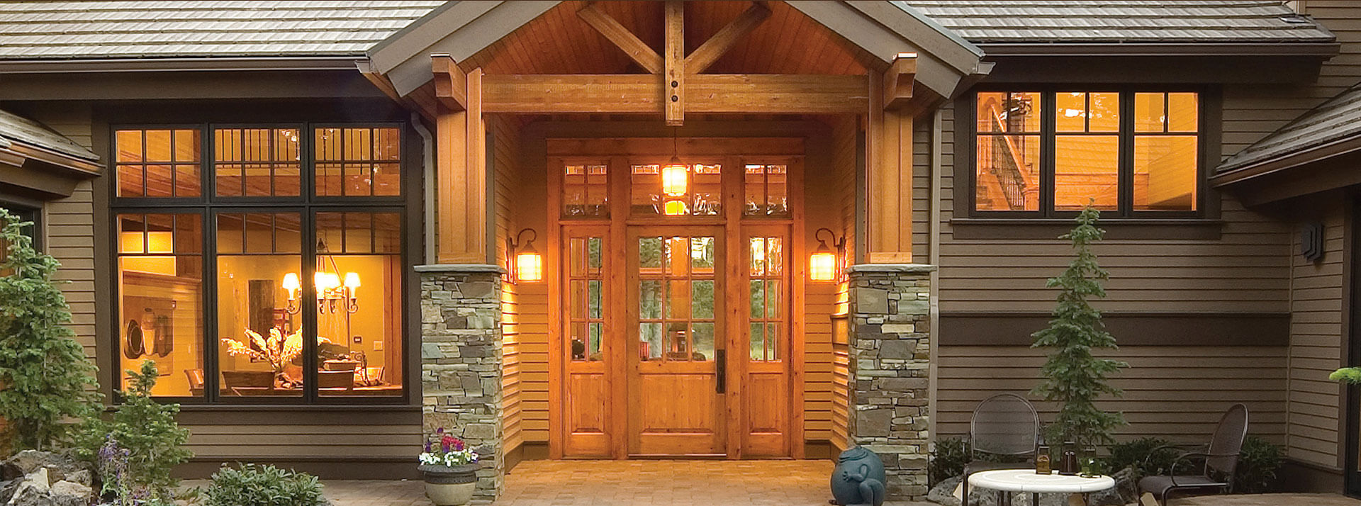 custom wood door entrance